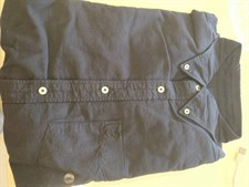 American Eagle Navy Blue Full Buttoned Shirt-Large