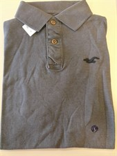 American Eagle Dark Gray Golf Shirt-Large
