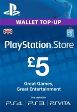 PlayStation PSN Card 5 GBP Wallet Top Up