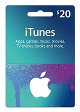 iTunes $20 Credit Gift Card