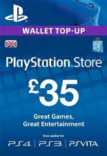 PlayStation PSN Card 35 GBP Wallet Top Up