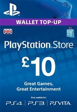 PlayStation PSN Card 10 GBP Wallet Top Up