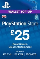 PlayStation PSN Card 25 GBP Wallet Top Up
