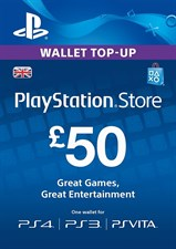 PlayStation PSN Card 50 GBP Wallet Top Up