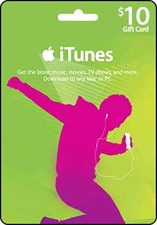 iTunes $10 Credit Gift Card