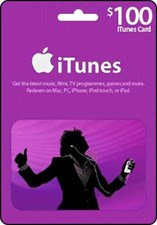 iTunes $100 Credit Gift Card