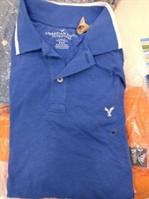 American Eage Polo T-Shirt (Blue)-Large