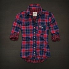 Hollister California Checked Shirt (Red & Blue)-Medium