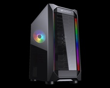 Cougar MX410-T Acrylic with RGB strips Mid Tower Case with Tempered Glass