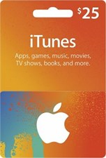 Itunes $25 Credit Gift Card