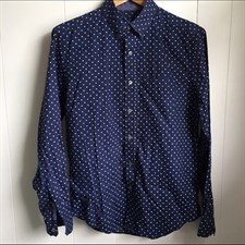 American Eagle men's polka dot navy button down Large