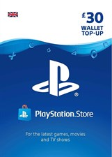 PlayStation PSN Card 30 GBP Wallet Top Up