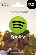 Spotify $30 Credit Gift Card