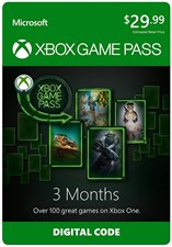 Xbox Game Pass 3 Month Membership Xbox One [Digital Code]